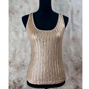 The Limited Tan Sequin Tank Top